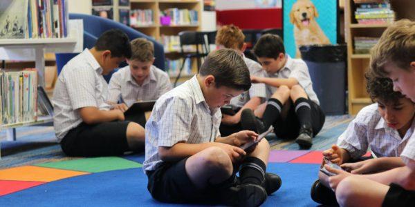Junior School student on iPad