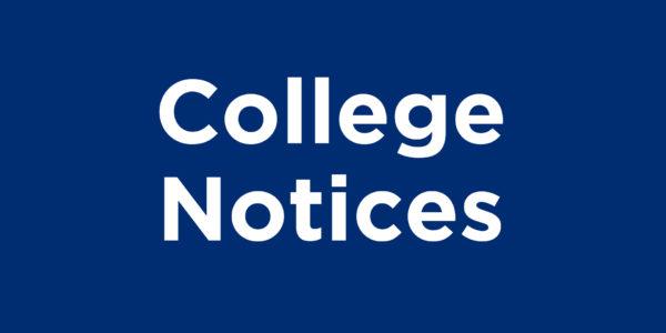 College Notices
